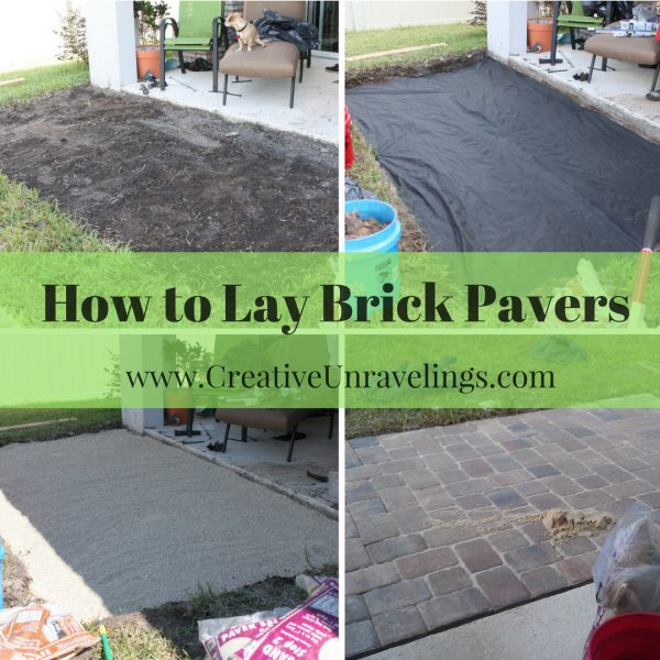 How to Lay Brick Pavers(1)