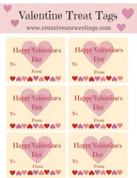 Valentine Treat Tags