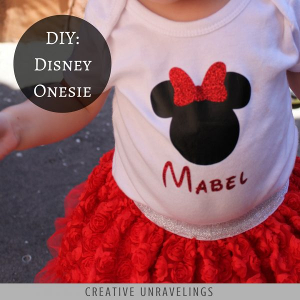Diy Disney Onesie Creative Unravelings